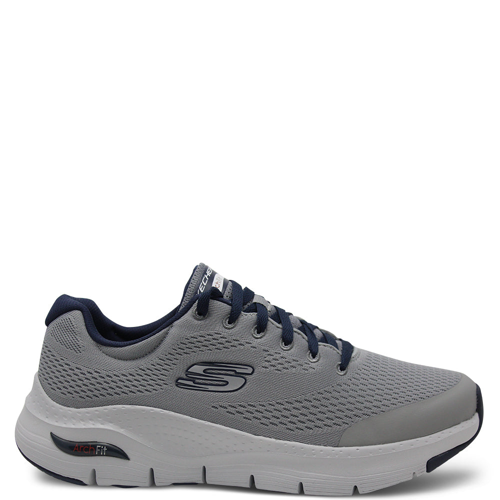 Skechers Arch Fit Grey Mens Sneaker