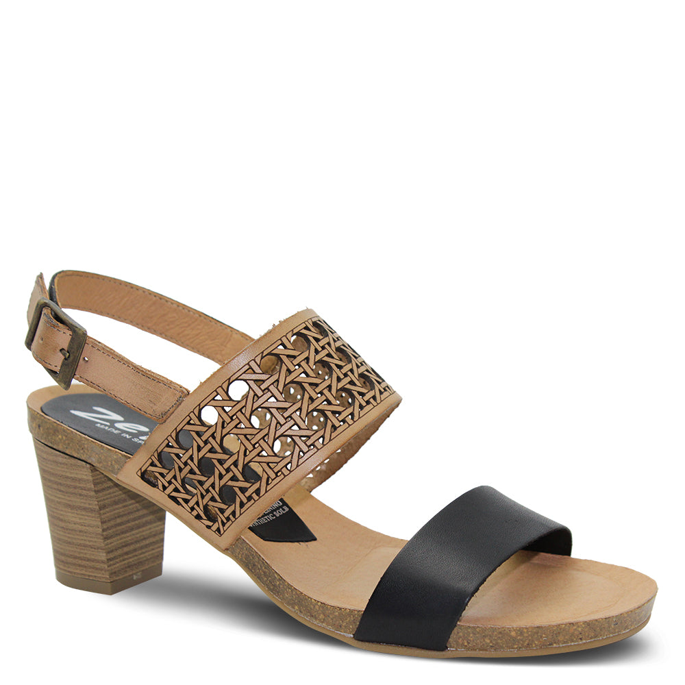 Zeta Baptista Black/Natural Womens Sandal
