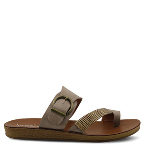 Los Cabos Bria Taupe womens flat slide
