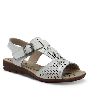 Just Bee Catalina White Womens Sandal