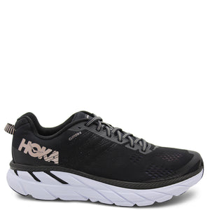 Hoka Clifton 6 Black/Rose Womens Runner