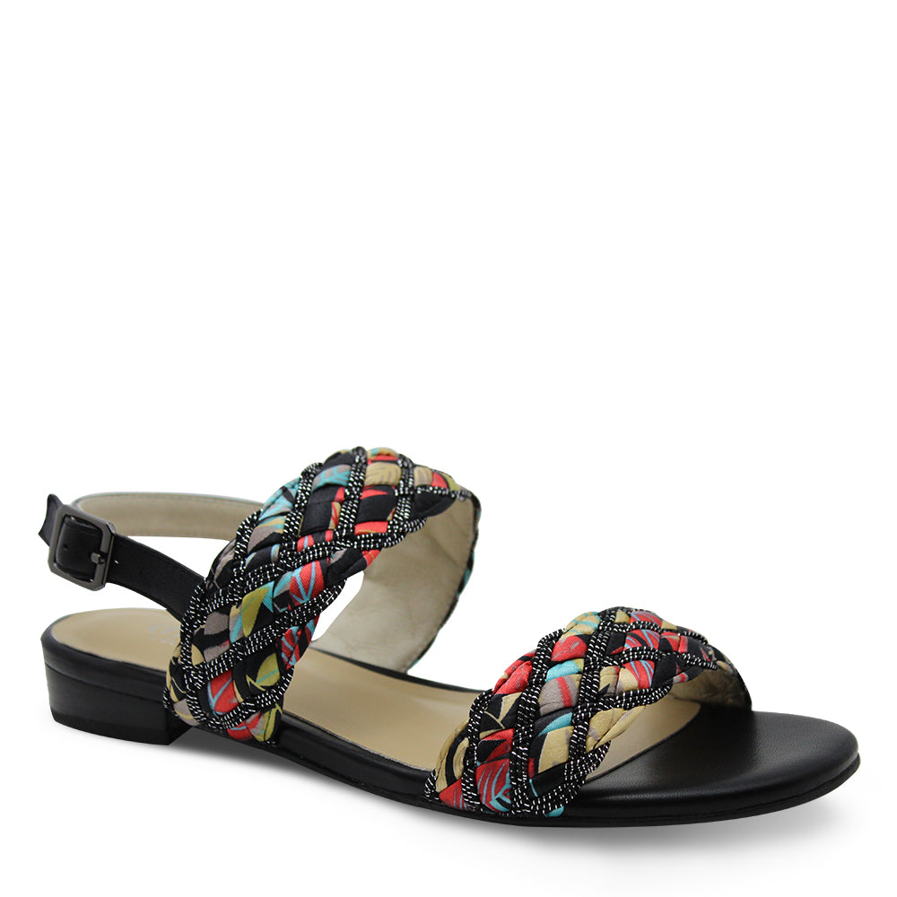 Chrissie Dawn Womens Black Multi Sandal