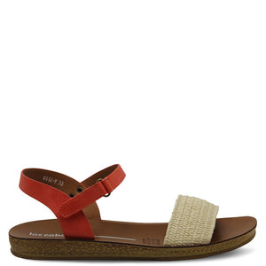 Los Cabos Diaz Beige/Orange Womens Sandal