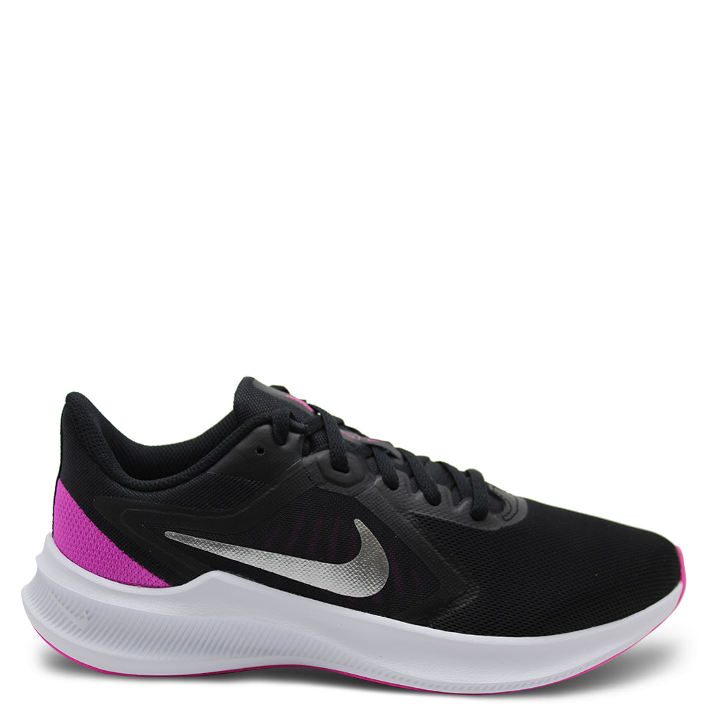 Nike Downshifter 10 Womens Black Pink Runner