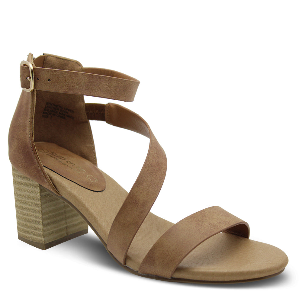 Step On Air Facts Tan Heel Sandal