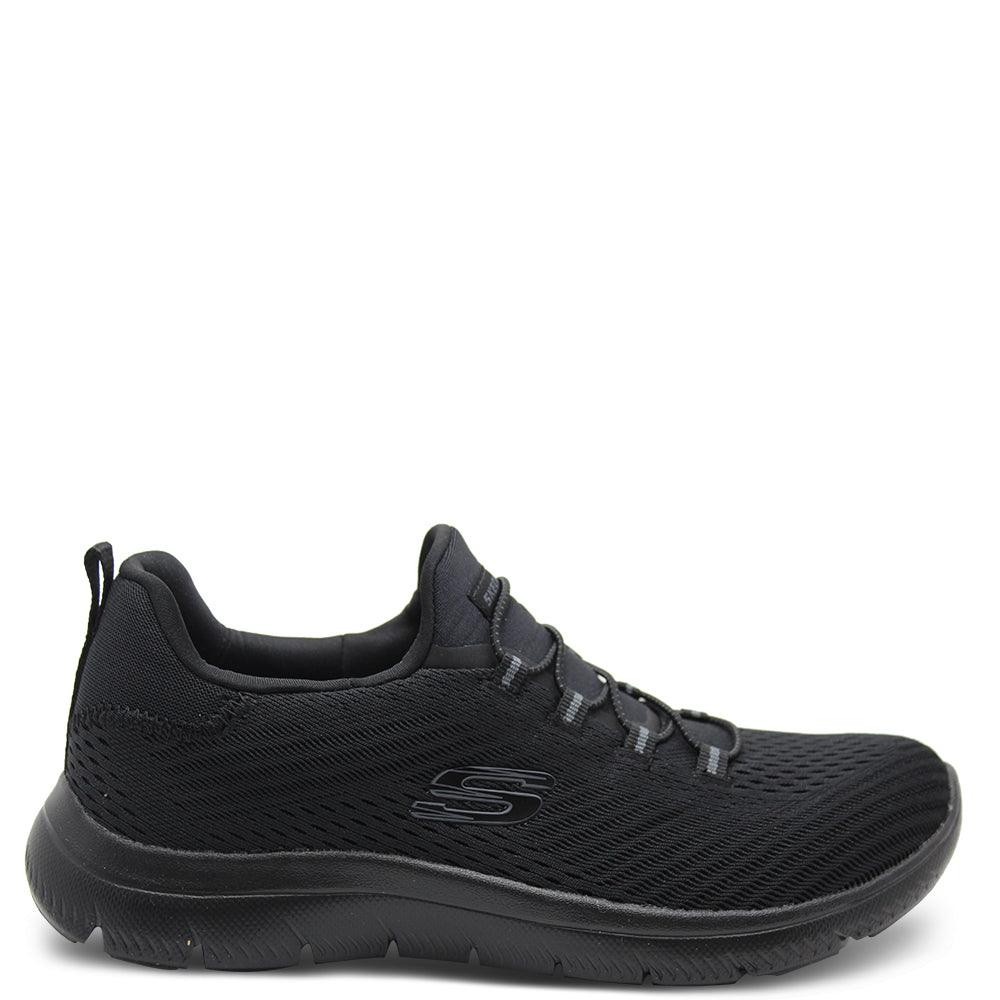 Skechers Fast Attraction Black Womens Slip On