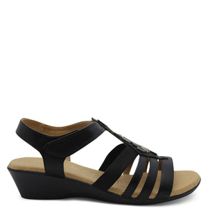 Step On Air Gell Black Womens Sandal
