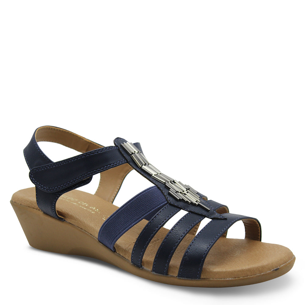Step On Air Gell Navy Womens Sandal
