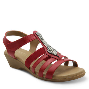 Step On Air Gell Red Womens Sandal