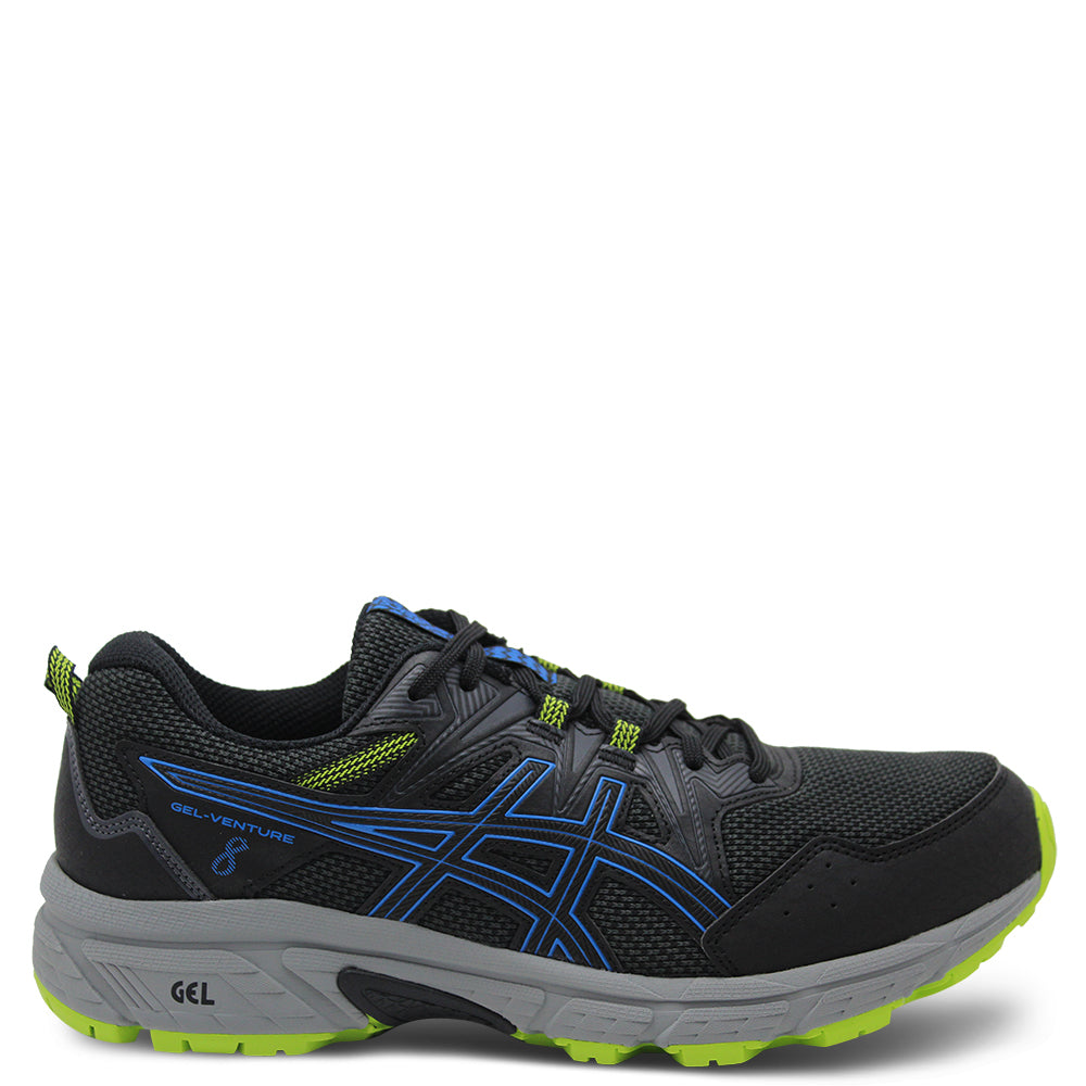 Asics Gel Venture 8 Black/Blue Mens Runner