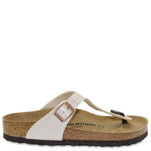 Birkenstock Gizeh White Pearl Womens Thong