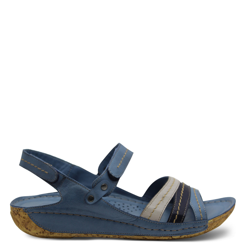 Cabello Glory Denim Womens flat Sandal