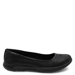 Skechers Go Walk Gem Black Womens Flat