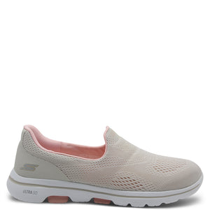 Skechers Go Walk 5 white/Pink slip on