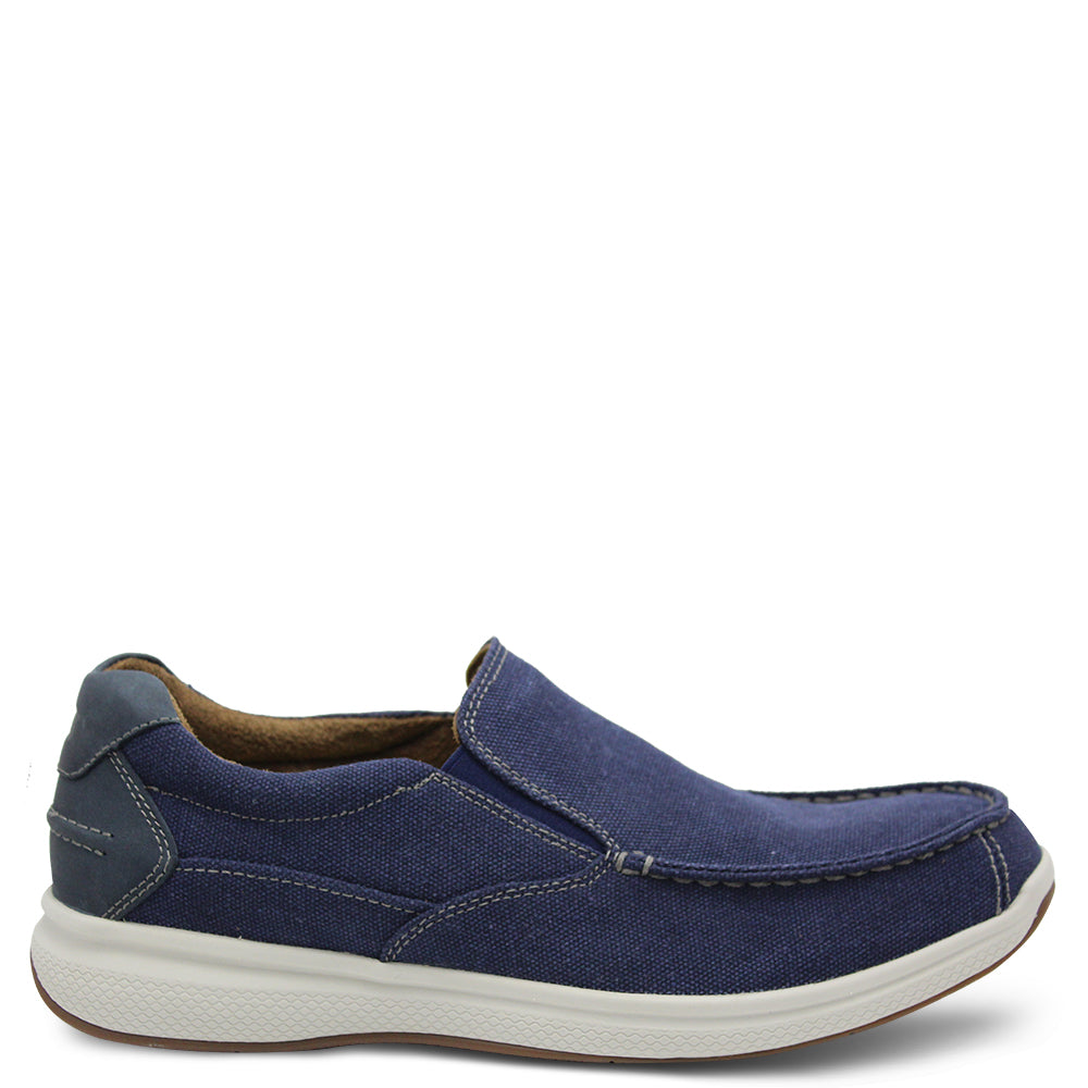Florsheim Gt Lakes Navy Canvas Mens Boat Shoe