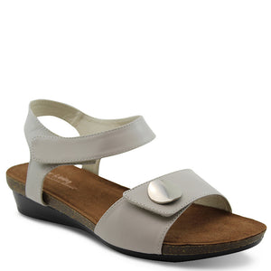 Silver Linings Happy womens flat sandal Taupe