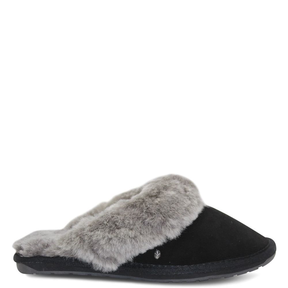 Emu Jolie Black/Charcoal Womens Slipper