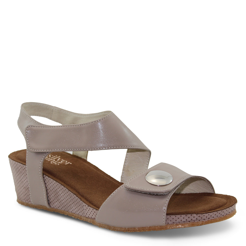 Silver Linings Kylie Taupe Womens Wedge Sandal