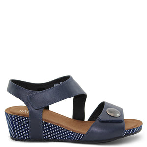 Silver Linings Kylie Navy Womens Wedge Sandal