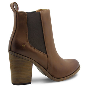 Windsor Smith Lille Tan Womens Heel Boot