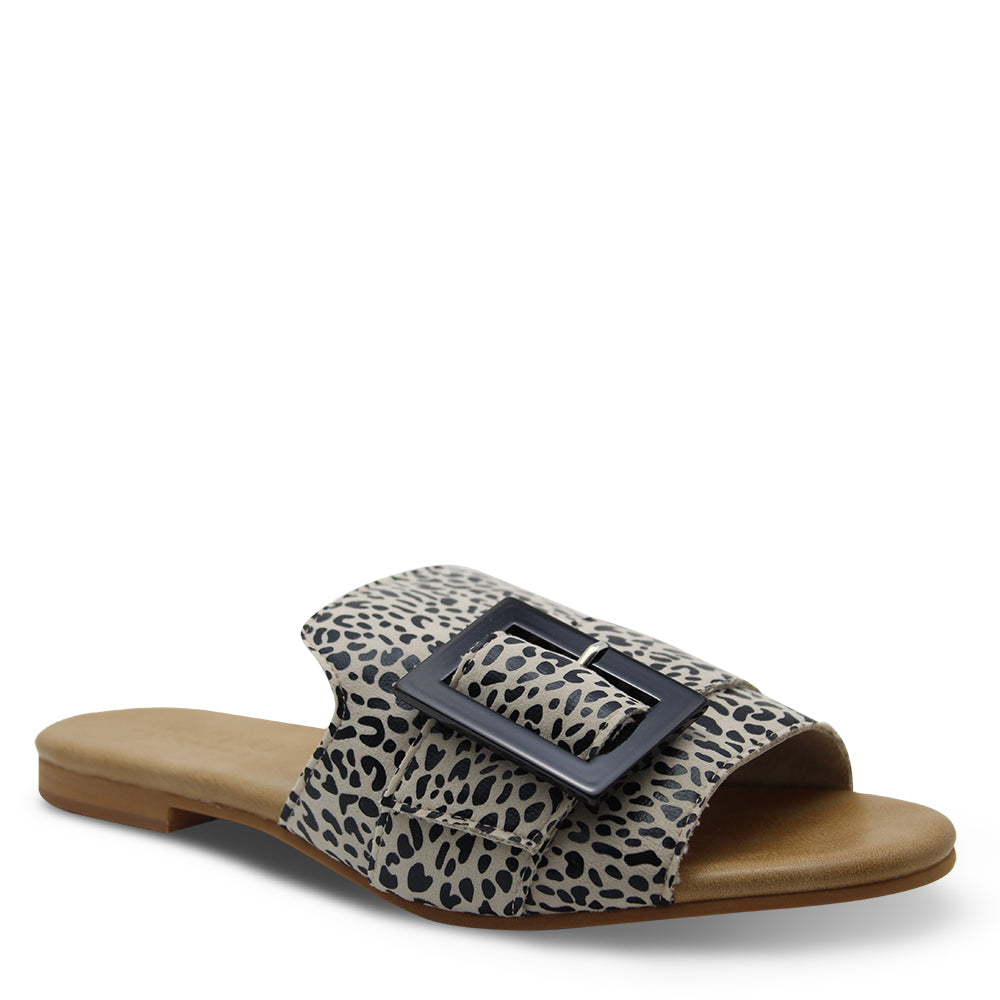 Walnut Meadow Slide Womens leopard sandal