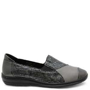 Cassini Melody Pewter Womens Flat