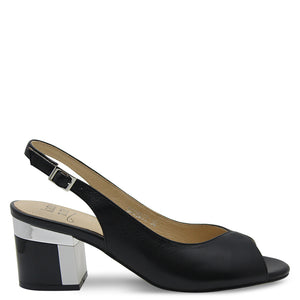 Katie N Me Modesty Womens Black Sandal
