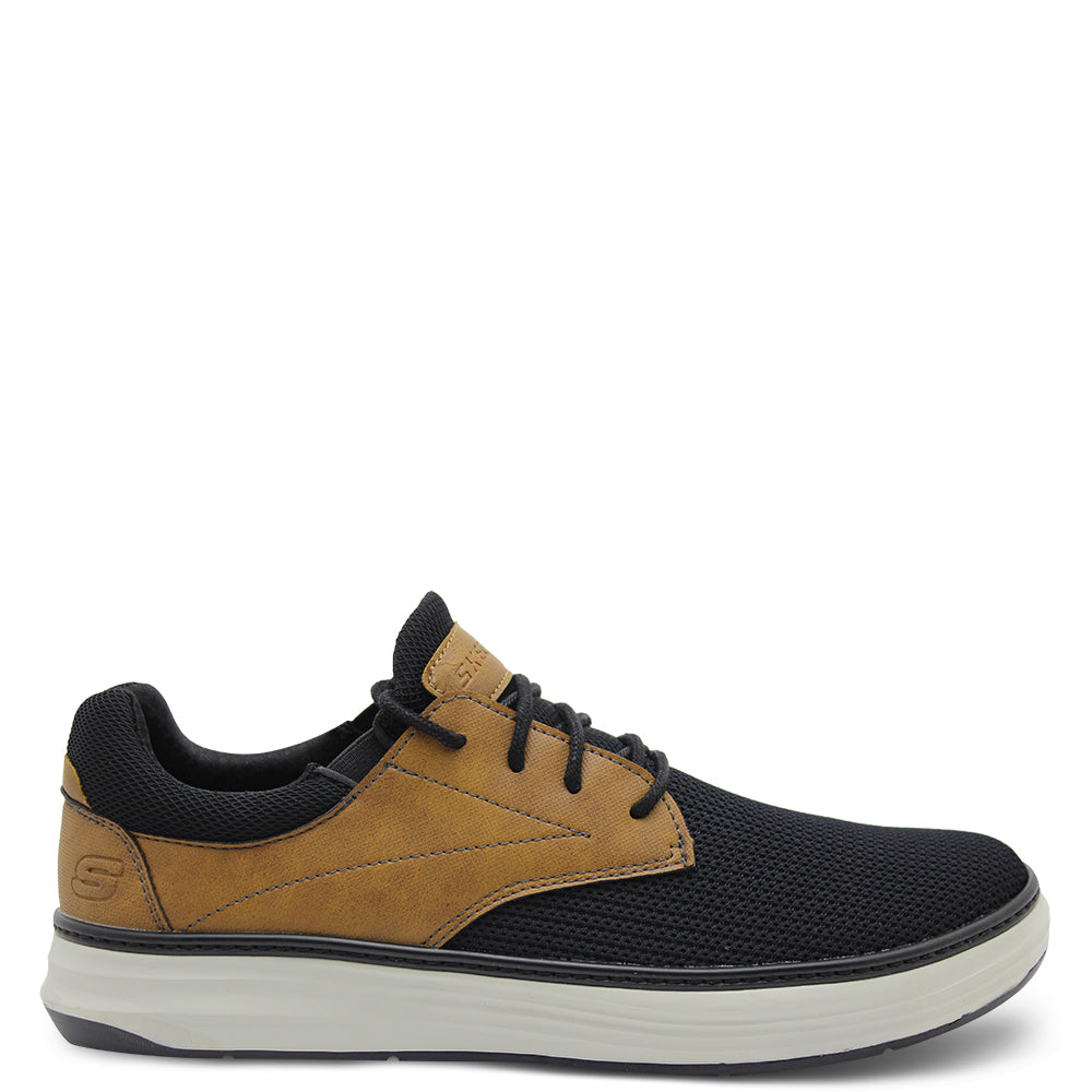 Skechers Moreno Black/Tan Mens Lace up