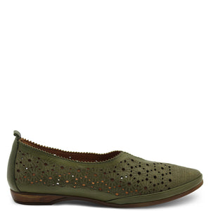 Neo VS1856 Green Womens Flat