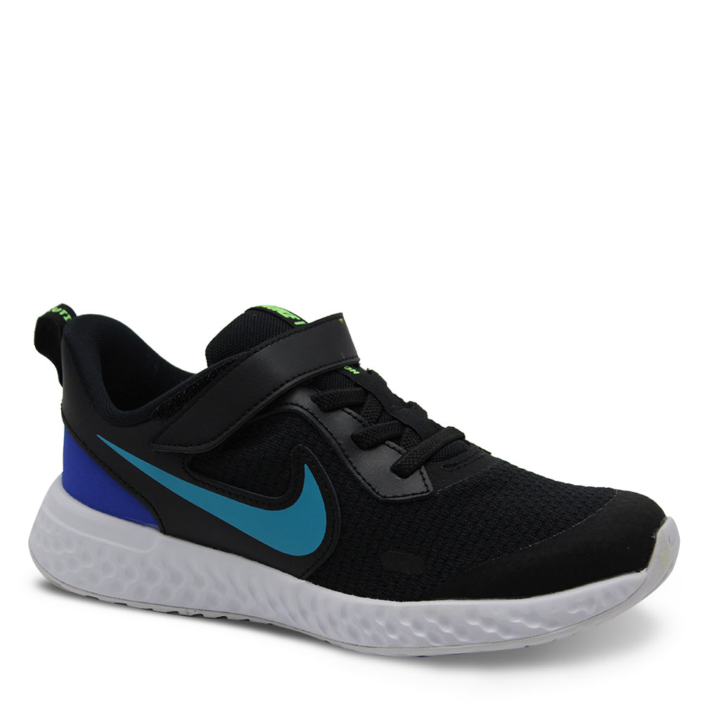 Nike Revolution 5 PS Black/Aqua Runner