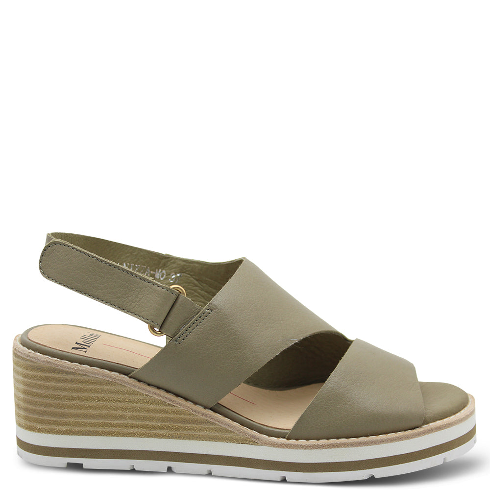 Mollini Nizza Khaki Women's Wedge Sandal