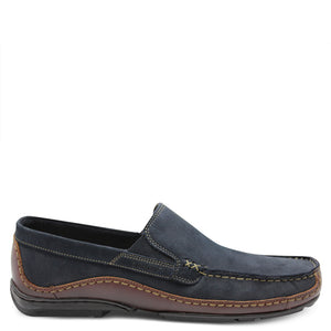 saramnda portland navy mens slip on