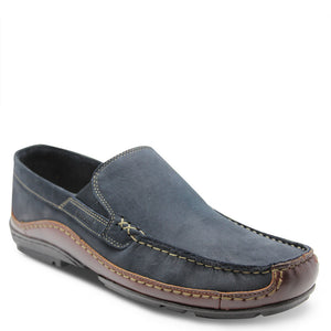 saramnda portland navy slip on