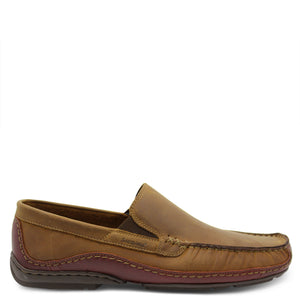 Saramnda Portland Tan mens slip on