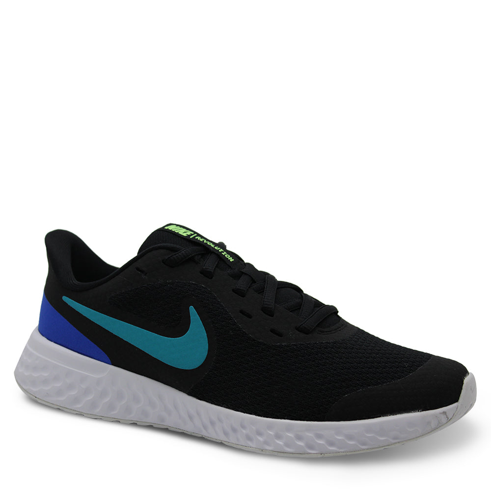 Nike Revolution 5 GS Black/Aqua Runner
