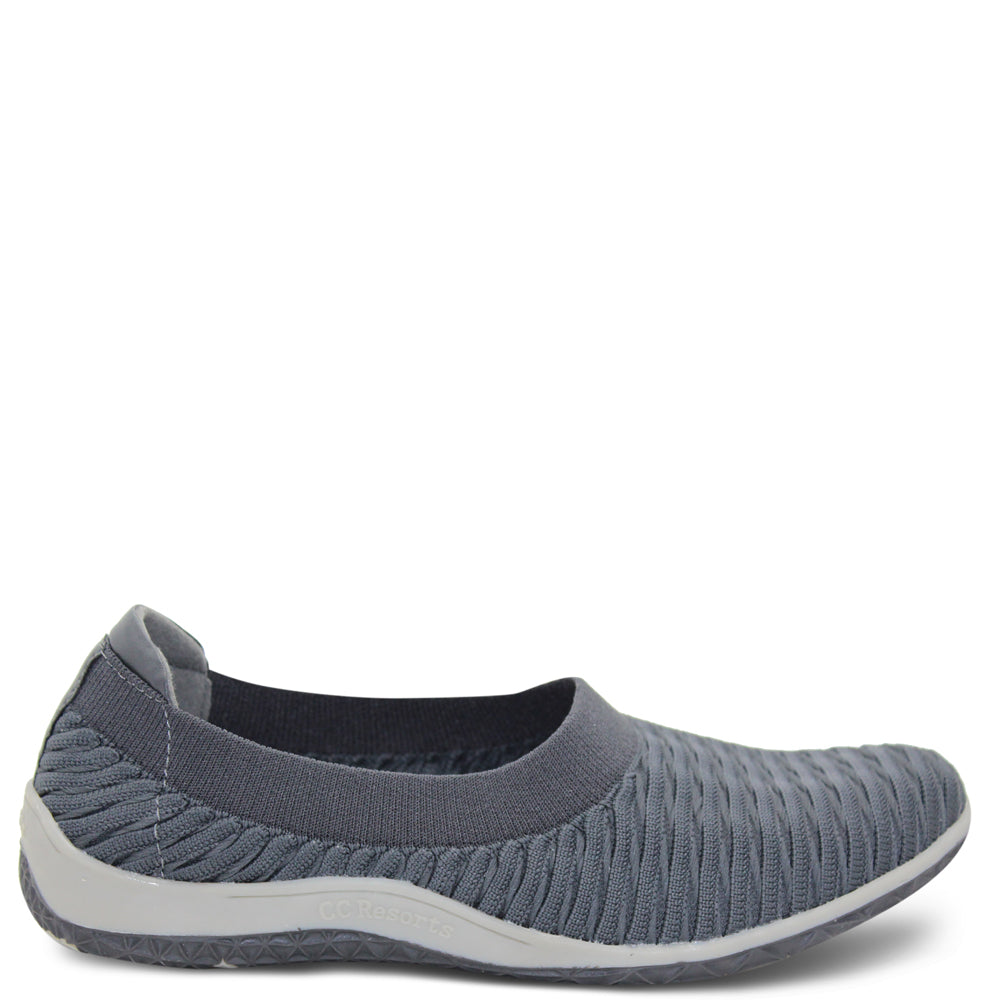 CC Resorts Sam Charcoal Womens Flat