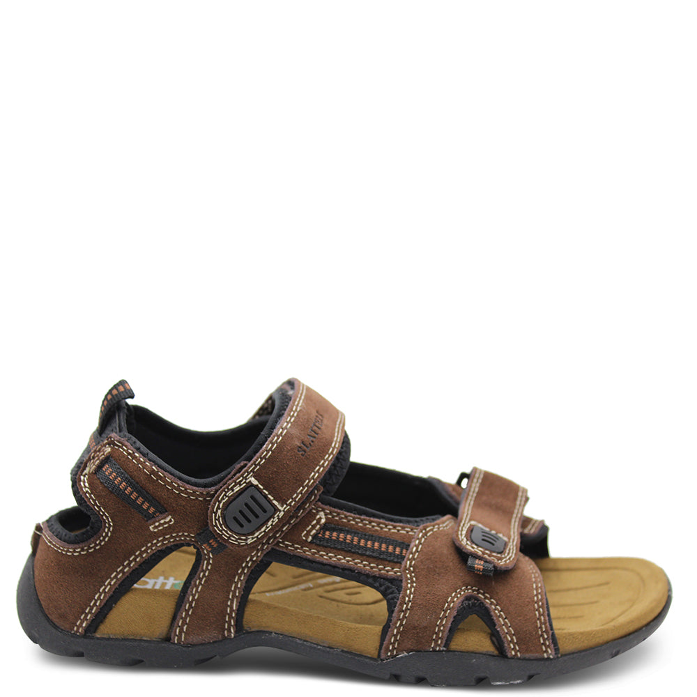 Slatters Broome Mens Brown Sandal