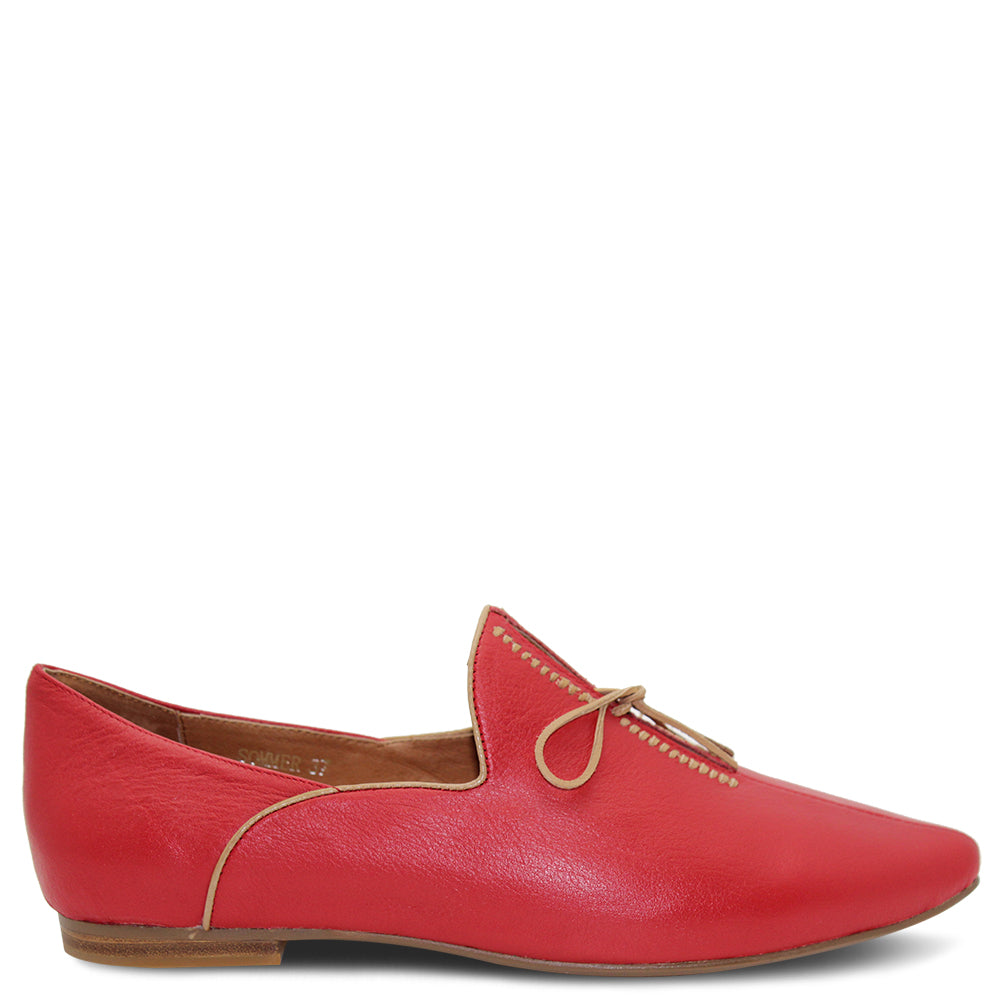 Top End Sommer Red Womens Flat