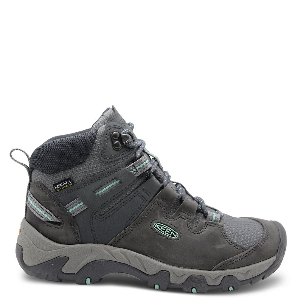 Keens Steen Mid Womens Grey boot
