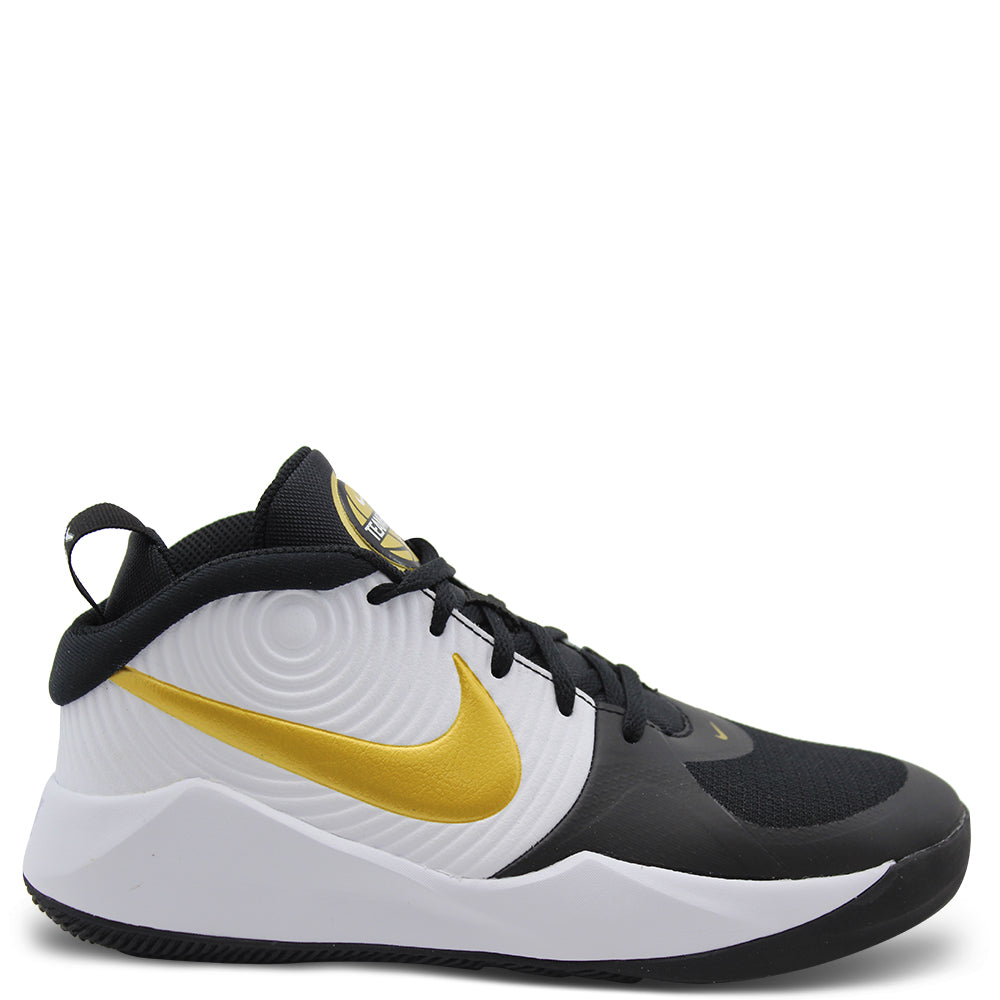 Nike Team Hustle GS Kids Black/Gold Boot