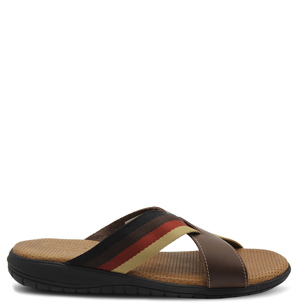 Ferracini Utah Men's Brown Slide