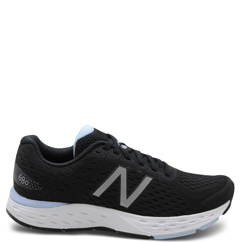 New Balance 680v6 Womens Black with Air