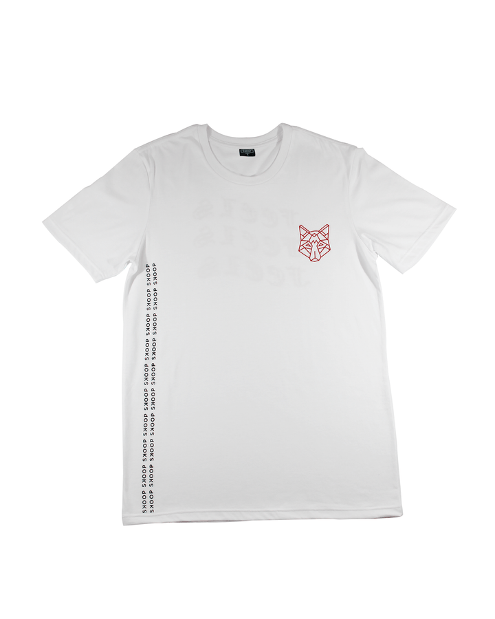 Feels White Tee - Skoop Kommunity