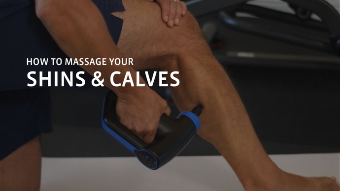 How to Massage Your Calves and Shins Using a Percussion Massage Gun