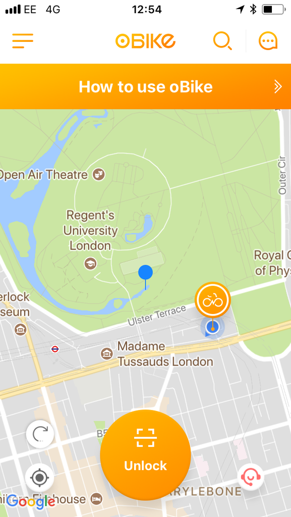 London Bike Sharing - the lesser spotted obike!
