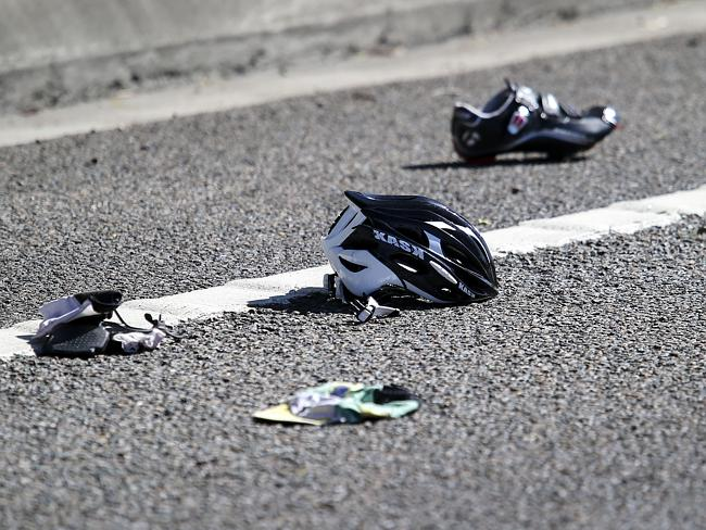Cycle safety - road accident debris