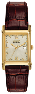 Citizen Corso Gold Case Brown Band Watch BW0072-07P