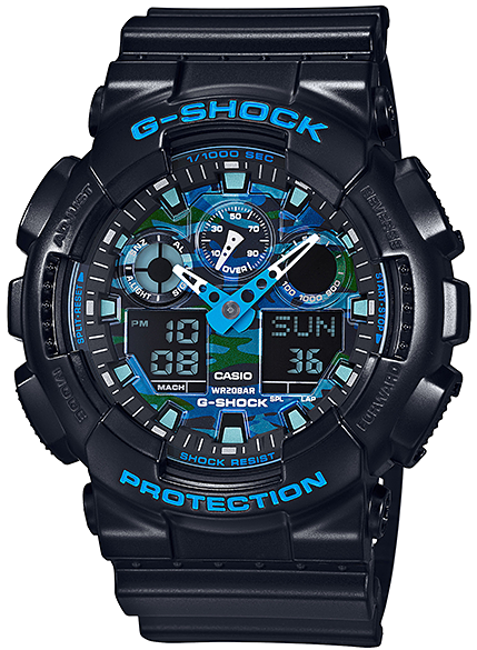 Casio G-Shock Ana-Digi 3-EYE GA-100CB-1ACR