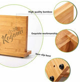 Bamboo Magnetic Knife Block