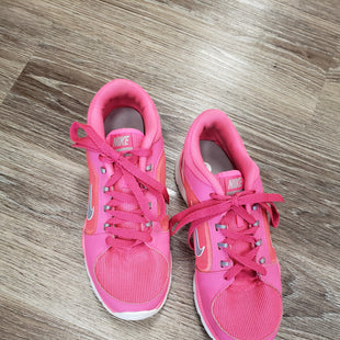 ATHLETIC SHOES BY NIKE SIZE 8 - PINK.